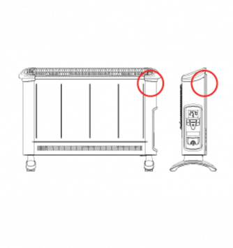 large portable radiator sketch